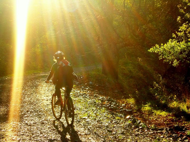Mt. Biking.